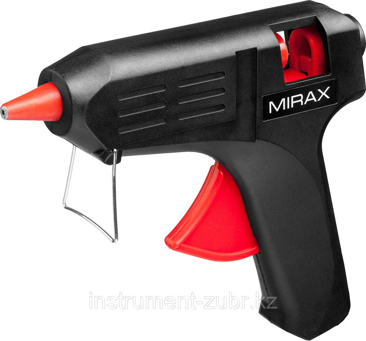 Пистолет клеевой (термоклеящий) электрический MIRAX, 40Вт/220В, 11мм