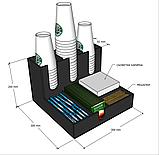 Диспенсер №4 (ОРГАНАЙЗЕР) для кофейных стаканов, сахара, салфеток, чая и мешалок, фото 4