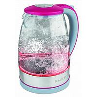 Чайник электрический Scarlett SC-EK27G32, 1,7 л, 2200Вт, стекло, серо-розовый