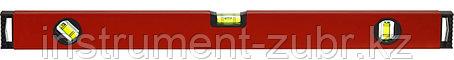 Уровень ЗУБР коробчатый, крашеный, 3 ампулы, фрезерованная базовая поверхность, 40 см, фото 2