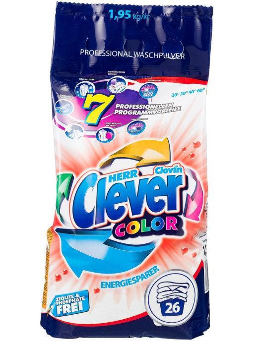 Порошок HERR CLEVER Color для цветных тканей 1,95кг