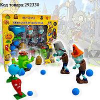 "Набор фигурок растения против зомби ""Plants vs zombies"" (6 фигурок, 6 шариков для метания) No:130-2"
