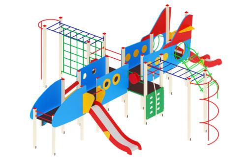 Детский игровой комплекс «Аэроплан» H=1200