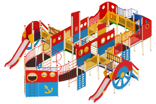 Детский игровой комплекс «Пароход» H=1200,1500, 2000