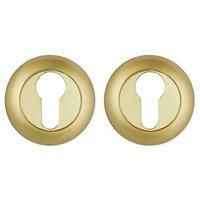Накладка под цилиндр Punto ET TL SG/GP-4, цвет матовое золото/золото (комплект из 2 шт.)