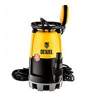 Дренажный насос для чистой и грязной воды DP-900S, 900 Вт, напор 9 м, 18000 л/ч// Denzel