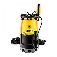 Дренажный насос для чистой и грязной воды DP-600S, 600 Вт, напор 7 м, 13000 л/ч// Denzel