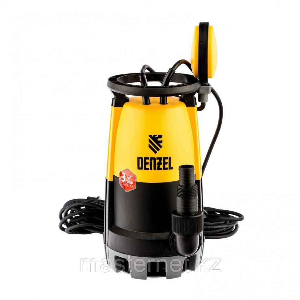 Дренажный насос для чистой и грязной воды DP-600S, 600 Вт, напор 7 м, 13000 л/ч// Denzel - фото 1