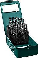 KRAFTOOL HSS-G 25шт(1-13мм), Набор сверл по металлу HSS-G, сталь М2(S6-5-2)