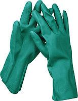 ЗУБР НИТРИЛ перчатки нитриловые, стойкие к кислотам и щелочам, размер L