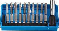 Набор ЗУБР: Биты из хромомолибденовой стали, 10 бит - обточенные 50мм, адаптер, 11 предметов