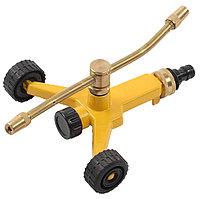 GRINDA 175 м2 полив, на колесах, 2 сопла, распылитель круговой, металлический