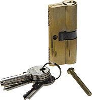 "Механизм ЗУБР ""МАСТЕР"" цилиндровый, тип ""ключ-ключ"", цвет латунь, 5-PIN, 70мм"