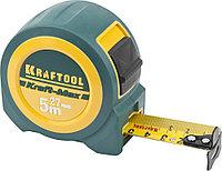 """KRAFTOOL """"Kraft-Max""""  5м / 27мм мощная профессиональная рулетка со сверхшироким полотном"""