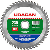URAGAN Clean cut 230х30мм 48Т, диск пильный по дереву