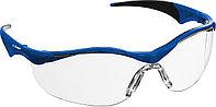 ЗУБР Прогресс 7 Прозрачные, очки защитные открытого типа, мягкие двухкомпонентные дужки.