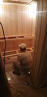 "Финская сауна с парообразователем. Размер = 2,4 х 1,9 х 2,3 м. Адрес: г. Алматы, КГ ""ЭДЕЛЬВЕЙС"" 25"