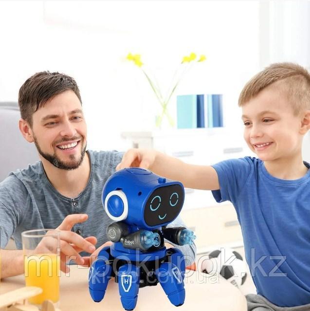 Робот интерактивный UKC музыкальный танцующий с яркой разноцветной подсветкой Синий