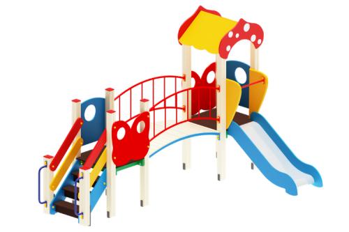 Детский игровой комплекс «Полянка» H=750