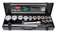 """RF-6161-5 ROCKFORCE Набор инструментов 16 предметов 3/4"""" 6гр. (17,19,21,24,27,30,32,33,36,41,46,50), в кейсе"""