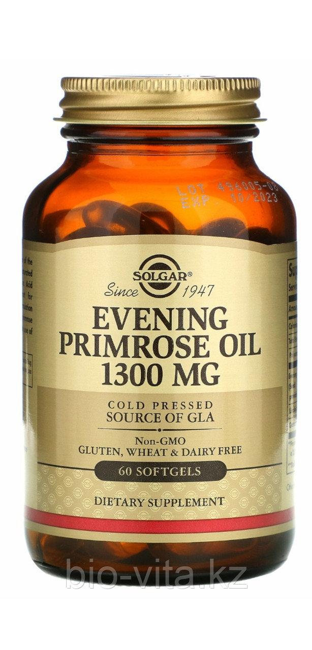 Масло примулы вечерней, 1300 мг. в 1 капсуле. 60 капсул. Solgar