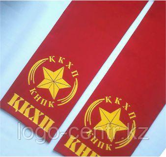Нанесение лого на шарф