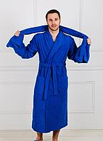 Халат велюр - махра 100 х.б, воротник кимоно с запахом мужские