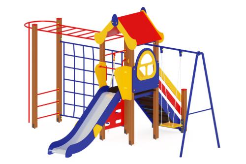 Детский игровой комплекс «Теремок» H=1200