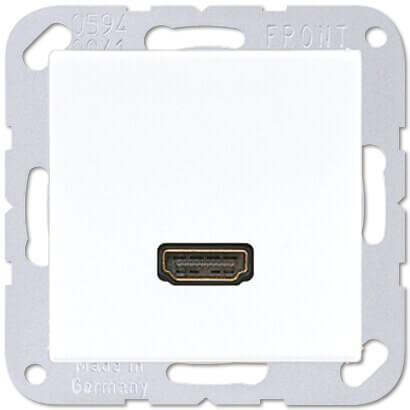 Розетка одинарная, белая HDMI maa1112ww