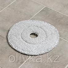 Насадка для плоской швабры, d=23 см, микрофибра, цвет серый