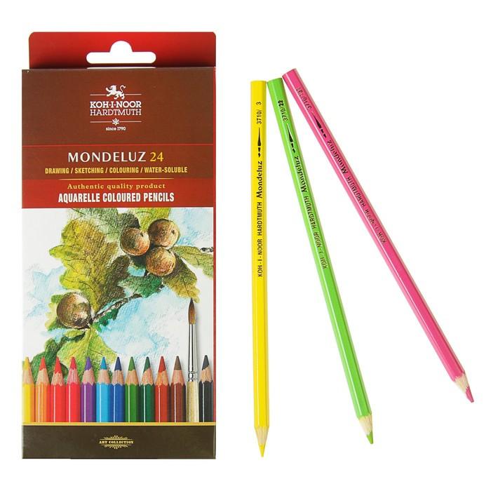 Карандаши акварельные набор 24 цвета, Koh-i-Noor Mondeluz 3718