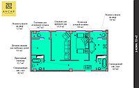 3 комнатная квартира 72 м², фото 1