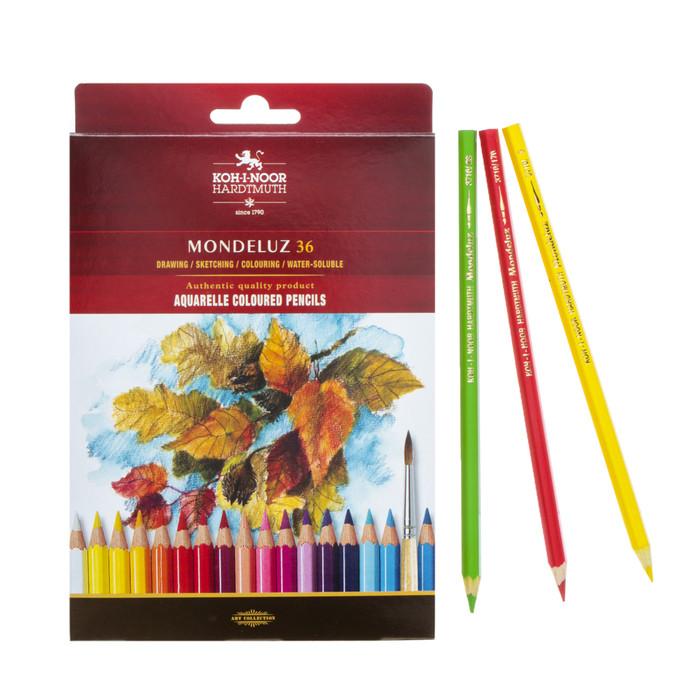 Карандаши акварельные набор 36 цветов, Koh-i-Noor Mondeluz 3719