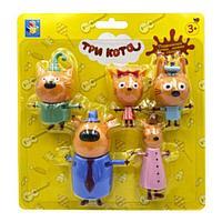 Игровой набор «Три кота. Коржик, Карамелька, Компот, Папа, Мама»
