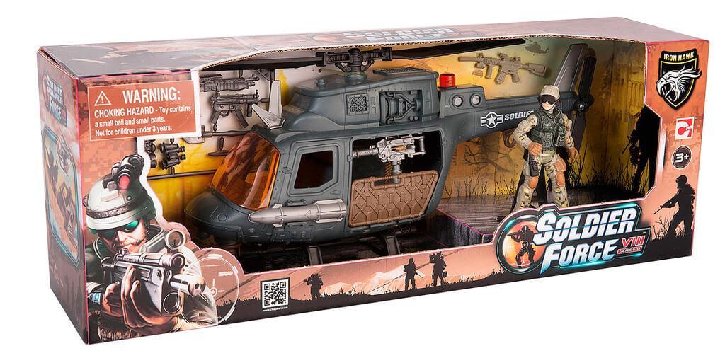 CHAPMEI 521003-2 Игровой набор: Десантный вертолет (1 фигура)