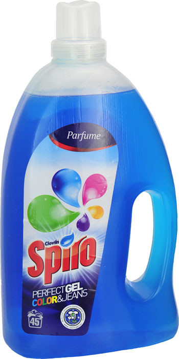Гель для стирки Clovin Spiro Color Jeans для цветных и джинсовых вещей, 3.15 л.