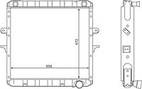 64229-1301010 Радиатоp МАЗ 4-рядный