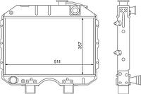 3741-1301010-04 Радиатор УАЗ 3-рядный