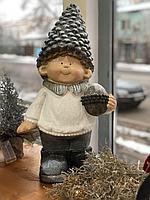 Мальчик с шишкой 51см, 2 видов, керамика, декор. Голландия