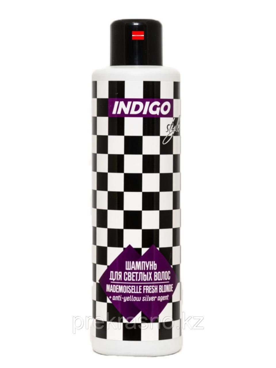 Шампунь 1л INDIGO STYLE для светлых волос с серебристым агентом Ag Белый шоколад