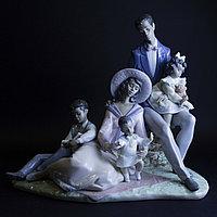 Семейный портрет. Очень редкая статуэтка. Фарфоровая мануфактура Lladro.