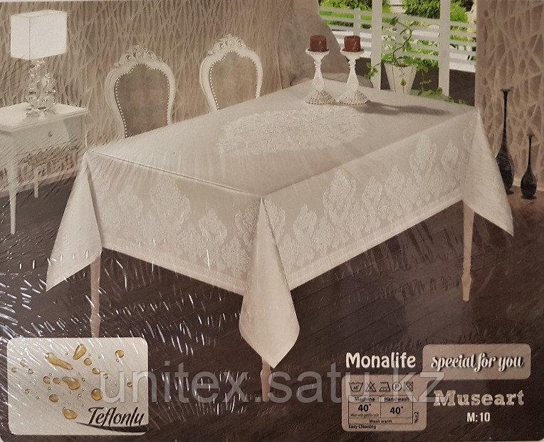 Тефлоновая скатерть Monalife Elit крем 160*220 см - фото 2