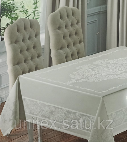 Тефлоновая скатерть Monalife 160×300 см Белая