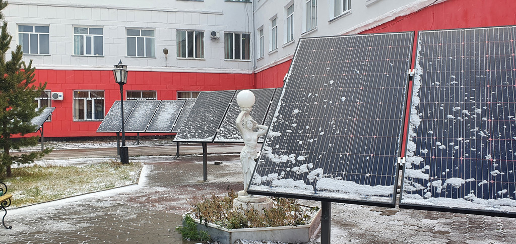 10,3 кВт солнечная сетевая станция в Политехническом колледже г. Караганды