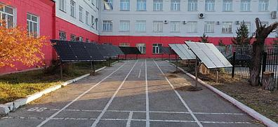 10,3 кВт солнечная сетевая станция в Политехническом колледже г. Караганды 8