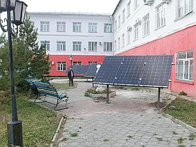10,3 кВт солнечная сетевая станция в Политехническом колледже г. Караганды 2