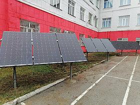 10,3 кВт солнечная сетевая станция в Политехническом колледже г. Караганды 4