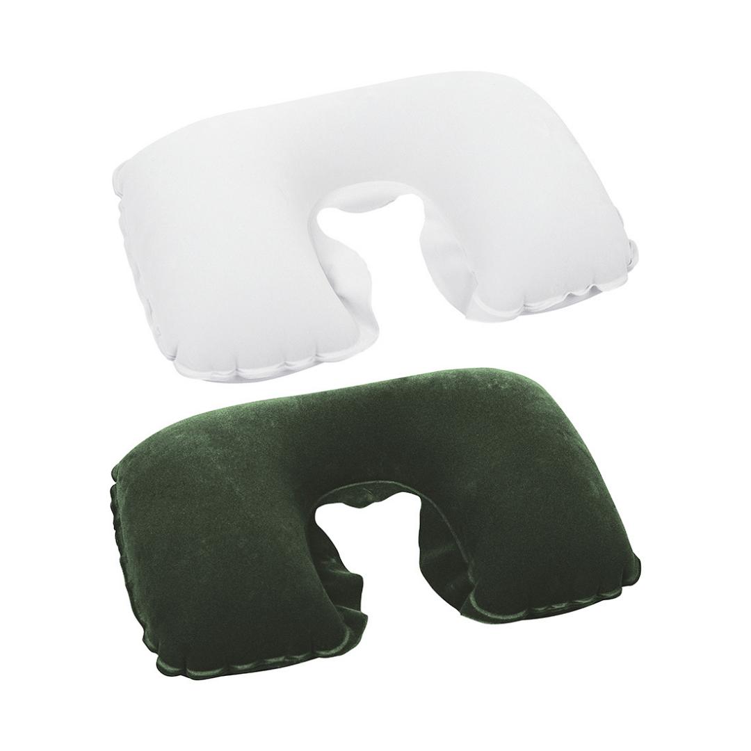 Подушка надувная под шею Flocked Air Neck Rest 37 х 24 х 10 см, BESTWAY, 67006, Флокированная поверх
