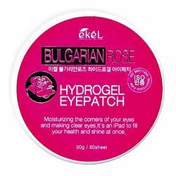 Патчи для глаз Ekel Eye Patch Bulgarian Rose Болгарская роза (60 шт.)