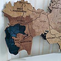 Карта Казахстана с Каспийским морем
